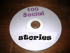 100 social stories on cd special needs ( print again and again)