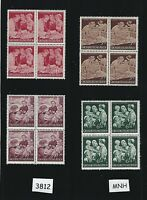 Full MNH stamp Block set / Mother & Children Family / Life in WWII Germany 1944
