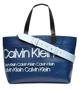 Calvin Klein Tannya Extra-Large Logo Tote Blue