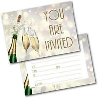 Birthday Party Invitations Champagne Pack of 20 Invites & Envelopes