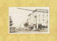 CA Redding 1940-50s RPPC vintage real photo postcard Hotel Lorenz & old cars