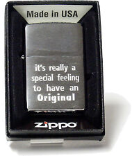 """Zippo """"it´s really a special feeling ..... hauseigene Gravur auf 1020200"""