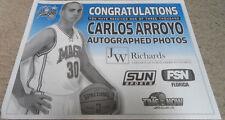CARLOS ARROYO  SIGNED AUTOGRAPHED 8x10 PHOTO STADIUM GIVEAWAY NBA ORLANDO MAGIC
