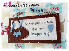DESIGNER BAG PLAQUE SIGN PICTURE (Item is not endorsed by Radley ) Handmade Gift