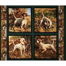 Perros Cojín Paneles Algodón Colchas de retazos de tela - 4 Paneles-Wild Wings punto norte