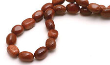 Sparkling Goldstone Glass Nugget Beads 16 Inch Strand