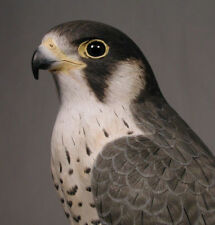 "15"" Peregrine Falcon Original Bird Carving Wood/Birdhug"