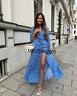 ZARA LONG PRINTED DRESS BELT SHIRT-STYLE BLUE XS-XXL REF.3198/242 BLOGGERS FAV.
