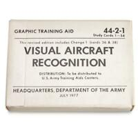 Visual Aircraft Recognition Cards - US Army Issue Military Surplus 1977