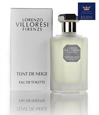 "LORENZO VILLORESI FIRENZE "" Teint de Neige "" Eau de Toilette Vapo ml. 50"