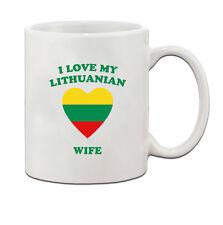 I love my LITHUANIAN Wife Ceramic Coffee Tea Mug Cup