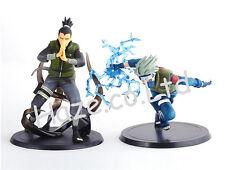 Anime Naruto Hatake Kakashi Nara Shikamaru Figura Juguete Modelo Colección 2 pie