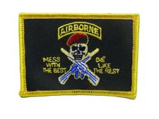 U.S. Military Airborne Mess With Best Flag Wholesale lot of 6 Iron On Patch
