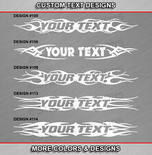 Fits GMC S10 S15 Custom Windshield Tribal Flame Decal Vinyl Graphic Sticker Name