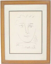 """VINTAGE PICASSO """"POUR ROBY"""" ABSTRACT ETCHING, Signed in the Plate AUTHENTICATED"""