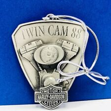 Harley Davidson Motorcycle Christmas ornament pewter all cylinders Twin Cam 88