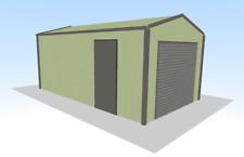 Steel Framed Buildings - Single Garage - 3.5m x 6m x 2.5m Domestic Steel Garage