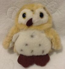 """Wild Republic Itsy Bitsy Owl Brown Spotted Soft Toy Plush 4.5"""" Cute Wildlife Toy"""