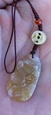 Authentic Hand Carved Natural Jade Stone Snake Zodiac Charm