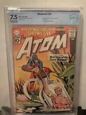 Showcase 34 CBCS 7.5 OW/W Silver Age DC Comic 1st Appearance of Atom like CGC