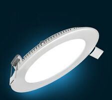 6W LED Round Recessed Ceiling Flat Panel Down Light Ultra slim Cool White