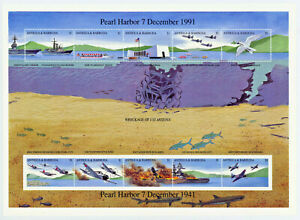 Pearl Harbor Anniversay Souvenir Sheet From Antigua and Barbuda