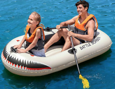 Bestway 2 person Inflatable Raft Boat Dingy Set including 2 Oars +Foot Pump NEW