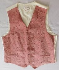 "Mens pink waistcoat Carlo Cardini tuxedo vest made in Germany XL chest 44"" NEW"