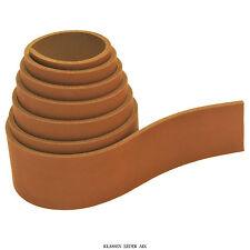 Sangle en cuir 135 cm long OCRE 3,1 mm d'épaisseur de ceinture réel VACHETTE