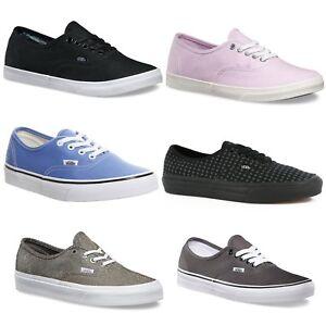 Authentic Vans Unisex Low Top Skateboarding Sneakers Unisex Canvas Shoes NEW