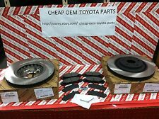 2008-2016 TOYOTA HIGHLANDER OEM GENUINE FRONT BRAKE ROTORS, PAD KIT & SHIM KIT
