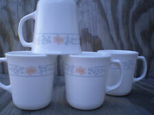 Corelle Dishes Apricot Grove White Flared Suprema Cups Mugs Set Of 4