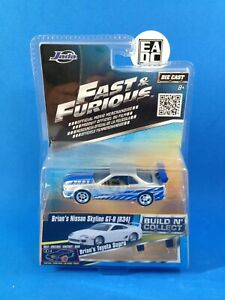 2016 JADA FAST AND FURIOUS BUILD N' COLLECT BRIANS NISSAN SKYLINE GT-R R34