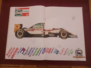 AUTOSPORT MARCH 1993 WITH A TEAM CASTROL LOTUS F1 JIM CLARK CENTRESPREAD *READ*