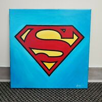 Super Sigil Hand Painted Original Oil Painting By Cargill DC Justice League Hero