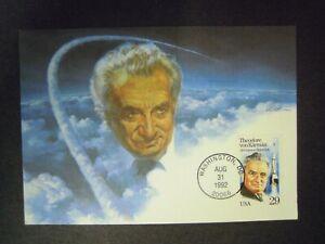 USA - THEODORE VON KARMAN  FDC (MAXI CARD) SPACE POSTCARD 31st AUGUST 1992
