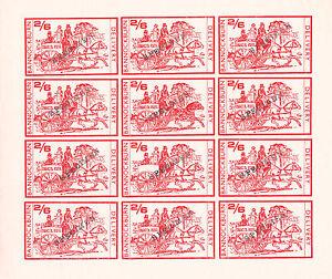 1971 STRIKE MAIL BANNOCKBURN 2/6 RED IMP SPECIM COMMEMORATIVES FULL SHEET OF 12