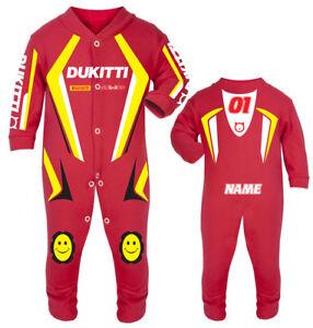 2017 Dukitti Baby Biker Race Sleep Suit
