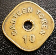 India Imperial Government Bombay Mint  Employee Canteen Token Brass Coin 10 P