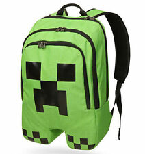 Minecraft School Backpack bag Boys Green Creeper Rucksack Sports Bag Waterproof