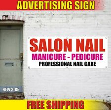 Salon Nail Banner Advertising Vinyl Sign Flag Bar Manicure Pedicure Barber Spa