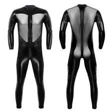 Unisex PVC Leather Full-body Leotard Catsuit Bodysuit Jumpsuit Clubwear Costumes