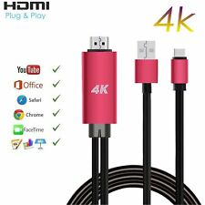 Type-C to HDMI 4K Cable HDTV TV Digital AV Adapter for Android Samsung LG Huawei