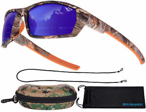BRUBAKER Polarized Camouflage Sunglasses for Fishing and Hunting, Colored Lenses