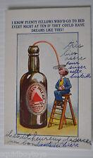 - BASS & Co. PALE ALE BEER vintage POSTCARD England Beer 1920s -
