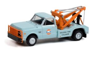 GREENLIGHT #30275 1:64 GULF OIL 1969 CHEVY C-30 DUALLY TOW TRUCK WRECKER