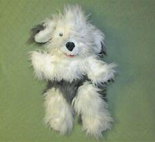 "24"" FOLKMANIS SHEEP DOG FULL BODY PUPPET FOLKTAILS PLUSH STUFFED GREY WHITE TOY"