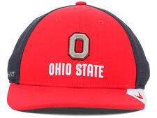 OHIO STATE BUCKEYES NIKE DRI FIT Legacy 91 Red Charcoal Flex Fit Hat Cap M/L