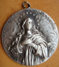 BLESSED VIRGIN MARY- IMMACULATE CONCEPTION RARE OLD BEAUTIFUL LARGE MEDAL PENDAN