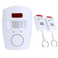 Security IR Driveway Wireless Motion Outdoor Alarm Sensor Alert Detectors White